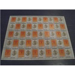 #564-65p XF-NH TAGGED INDIANS FULL SHEET OF 50