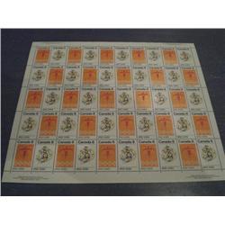 #564-65i XF-NH INDIANS FULL SHEET OF 50 *MF PAPER* C$250,00
