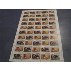 #566-67 XF-NH INDIANS FULL SHEET OF 50