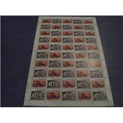 #578-79 XF-NH INDIANS FULL SHEET OF 50 PLAIN PAPER