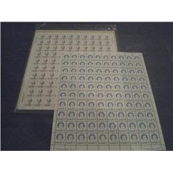 #592 PL1 Sealed -593 XF-NH FULL SHETT 100 PLATE No8