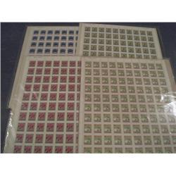 #705, 708, 710 & 711 XF-NH FULL SHEET OF 100