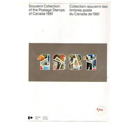 SEALED SOUVENIR COLLECTION #24 YEAR 1981 C$30,00