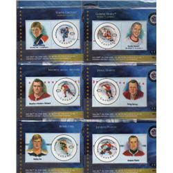 THEMATIC COLLECITON #93 YEAR 2000 *HOCKEY NHL ALL STARS STAMPS CARDS*