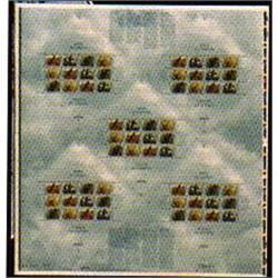 1996 #1591-94 Birds Canada Uncut Press Sheet