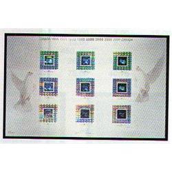 1999 #1812ii MILLENNIUM Canada Uncut Press Sheet HOLOGRAM