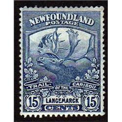 NEWFOUNDLAND #124 VF-LH MINT  CARIBOU CAT$60,00
