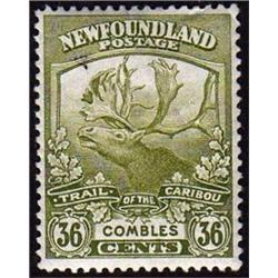 NEWFOUNDLAND #126 XF-LH MINT  CARIBOU CAT$50,00