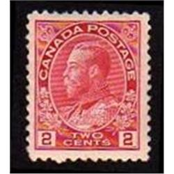 Canada #106b XF-LH SELECT CENTERING ADMIRAL PINK SHADE C$200,00