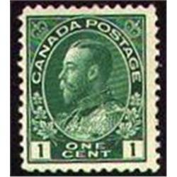 Canada #104c VF-NH ADMIRAL DEEP BLUE GREEN SHADE C$90,00