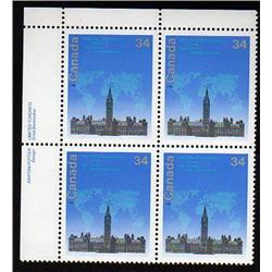 #1061i XF-NH UL BL4 * HIGH FLUORESCENT PAPER VARIETY*