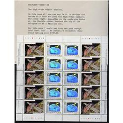 #1441-1442iii XF-NH COMPLETE SHEET OF 20 *HIGH ORBIT MISCUT VARIETY*