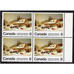 #610ii XF NH BLOCK4 VARIETY *EXTRA LOG IN SNOW*