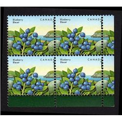 #1349var XF-NH LR BLOCK OF 4 WITH MISSING ONE VARIETY ERROR