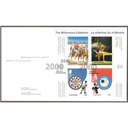 CANADA #1818 to 1834 FDC THE MILLENNIUM COLLECTION