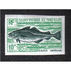 SAINT PIERRE & MIQUELON #419to422 IMPERFORATED SET FISH