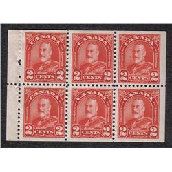 #165b VF-5NH 1LH BOOKLET PANE OF 6 C$50,00