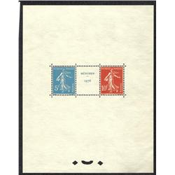 France #241 XF-MINT TOP QUALITY STRASBOURG 1927 SOUVENIR SHEET