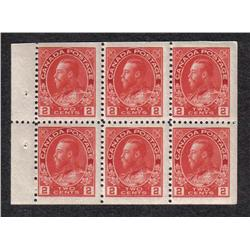 #106a BOOKLET PANE 6 NH C$70,00