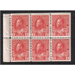 #106a MINT NH BOOKLET PANE OF 6