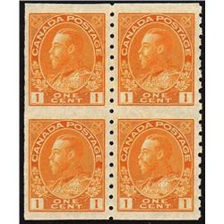 #126a XF-NH IMPERF BLOCK OF 4 C$120,00
