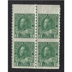 #128a XF-1NH 1H IMPERF BLOCK OF 4 C$100,00