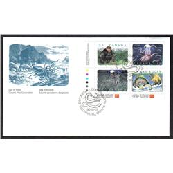 #1289-92d XF- FDC COVER PERF 12.5x12 LL PLATE BL4