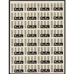POST PAR 50cents FULL SHEET 32 SMALL MARGIN XF-NH
