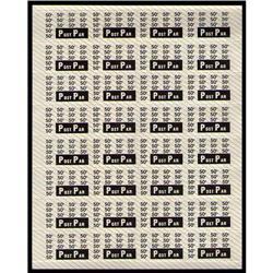 POST PAR 50cents FULL SHEET 32 LARGE MARGIN XF-NH