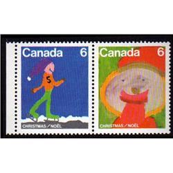 #674-75var XF-NH PAIR DRASTIK (Canada 6 DOUBLE PRINT ERROR VARIETY)