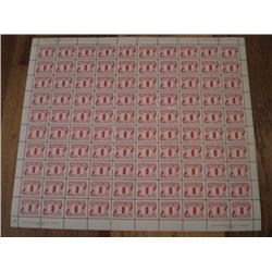 #J28i FULL SHEET *RED DOT VARIETY POS. 97* ECV$300,00 ----XF-NH