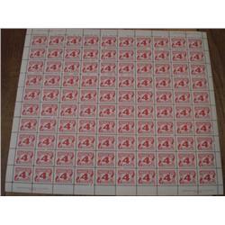 POSTAGE DUE #J31i FULL SHEET C$500,00    PLAIN PAPER ----XF-NH