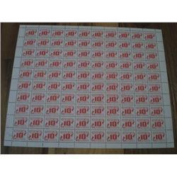 #J35var *MISSING RED INK VARIETY* FULL SHEET ECV$5000,00  ----XF-NH