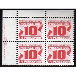 #J35var *MISSING RED INK VARIETY* UL PL4 ECV$200,00 --- XF-NH