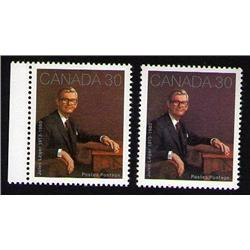 #914var XF-NH *BROWN AND PALE BROWN COLOR SHADE VARIETY ERROR*