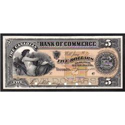 BANK OF COMMERCE $5 -- JANUARY 2nd, 1888