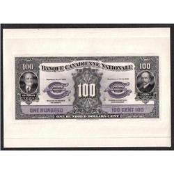 BANQUE CANADIENNE NATIONALE $100 -- FEBRUARY 1st, 1929