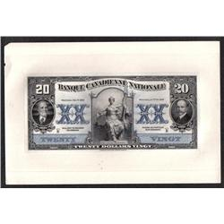 BANQUE CANADIENNE NATIONALE $20 -- FEBRUARY 1st, 1929