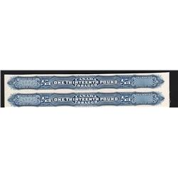Canada TOBACCO PROOF 1/13 POUND PAIR - SERIES 1897 BLUE SHADE