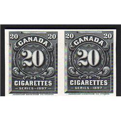 Canada CIGARETTES 20c PAIR - 1897 SERIES GREEN SHADE