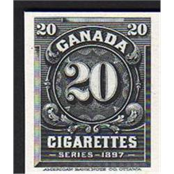 Canada CIGARETTES 20c - 1897 SERIES GREEN SHADE