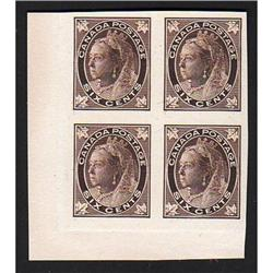 #71p XF LL IMPERF PROOF BLOCK OF 4