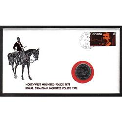 #612 to 614 FDC WITH RCMP COIN *NORTHWEST MOUNTED POLICE 1973* COMPLETE SET