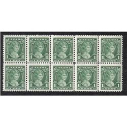 #211 VF-NH BLOCK OF 10 STAMPS