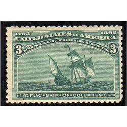 USA #232 MINT-H COLUMBIAN ISSUE