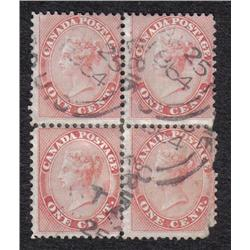 #14 RARE USED BLOCK OF 4