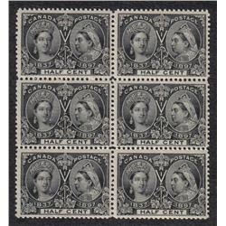 #50 VF- 3NH 3LH RARE BLOCK OF 6 JUBILEE