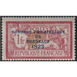 France #197 MINT LH OVERPRINTED CONGRE PHILATELIQUE DE BORDEAUX 1923