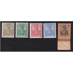 GERMANY #53 to 56, 58 VF-NH RARE