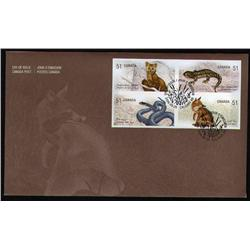 2006 NEW ISSUE ENDANGERED SPECIES IMPERF FDC OF4